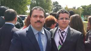 Nuestro Director General y el director de educación financiera de Condusef, el Lic. Jorge Torres.
