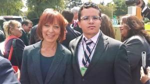 Con la directora del Museo Interactivo de Economia (MIDE) la Lic. Silvia Singer.