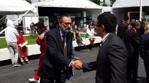 Nuestro Director General, Angel Gonzalez agradeciendo al Vicepresidente de Condusef, el Lic. Luis Fabre por su invitacion a este evento.